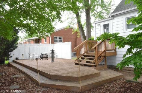 deck without railing new house pinterest