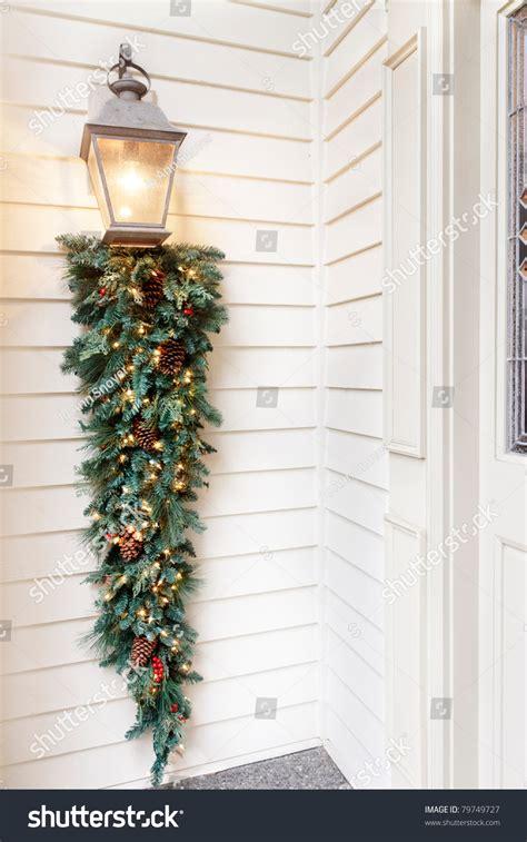 porch light decorations decorations on porch light stock photo 79749727