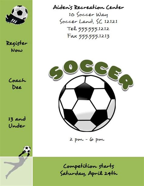 soccer certificate templates for word free microsoft word soccer flyer template flyertutor