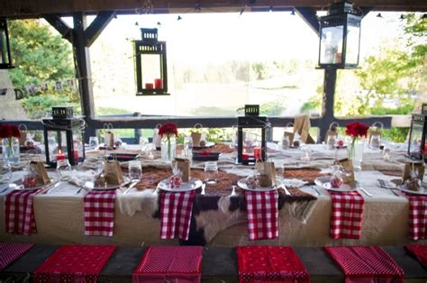 Rehearsal Dinner Table Decorations by Western Style Rehearsal Dinner Rustic Wedding Chic