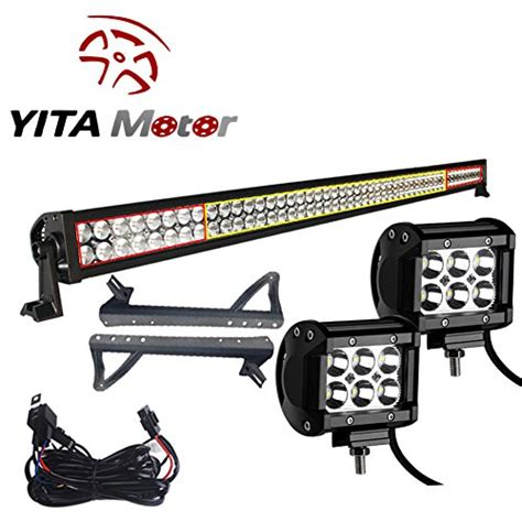 jeep jk light bar brackets yitamotor jk jeep wrangler 52 inch and led light bars with