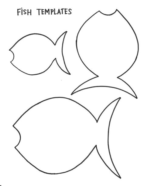 template of a fish fish template animal crafts