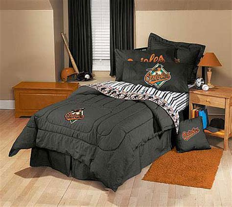 Orioles Bedroom Decor by Baltimore Orioles Team Denim Comforter Sheet Set