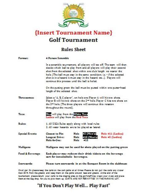 28 golf tournament budget template 100 9 best