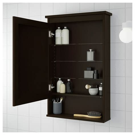 Black Mirrored Bathroom Cabinet Hemnes Mirror Cabinet With 1 Door Black Brown Stain 63x16x98 Cm Ikea