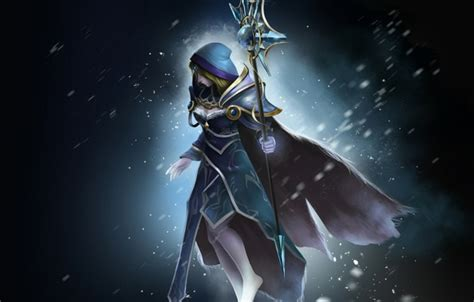 dota 2 rylai wallpaper wallpaper snow art crystal maiden razor girl staff