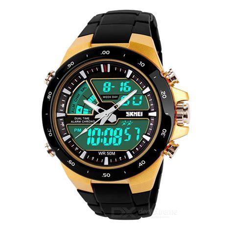 Jam Tangan Pria Sauron Box Led jam tangan pria sk mei casio digital led analog