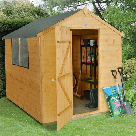 6 X8 Shed by Forest Garden 6 X 8 Shiplap Wooden Apex Garden Shed