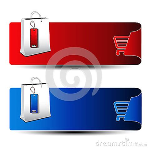 product banner shopping offer template stock photo