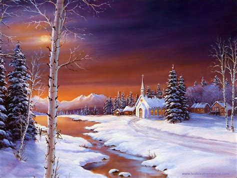 Wallpaper Christmas Landscape | holy night christmas landscapes