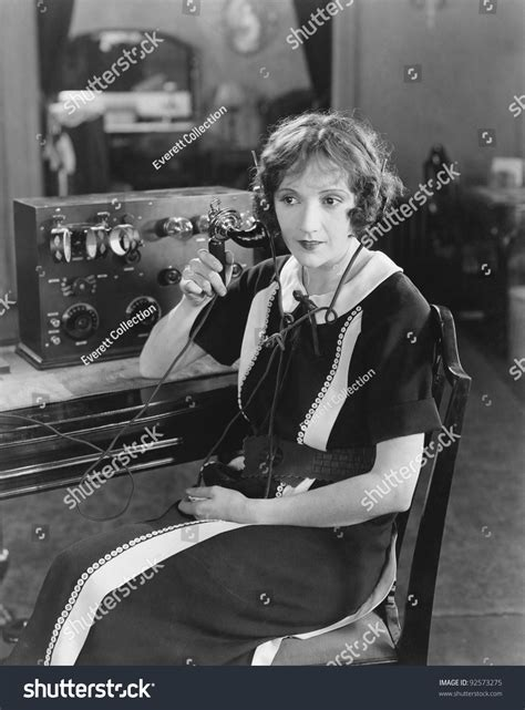 Switchboard Search Switchboard Operator Sitting At Telephone Switchboard And Talking Stock Photo 92573275