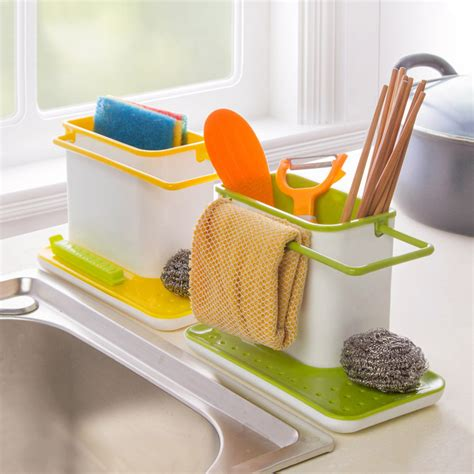 Sink Organizer by New Plastic Racks Organizer Caddy Storage Kitchen Sink