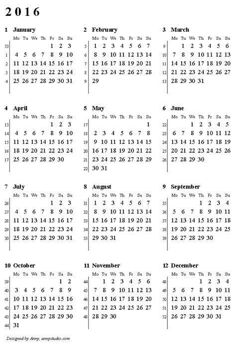 printable yearly calendar with week numbers miata 2016 driverlayer search engine