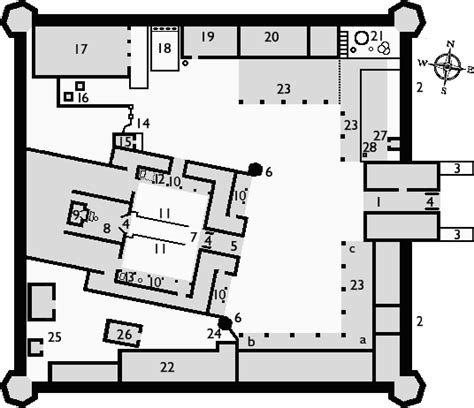 hindu temple floor plan deshnok