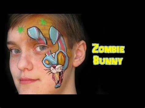 zombie bunny tutorial zombie bunny face painting tutorial youtube