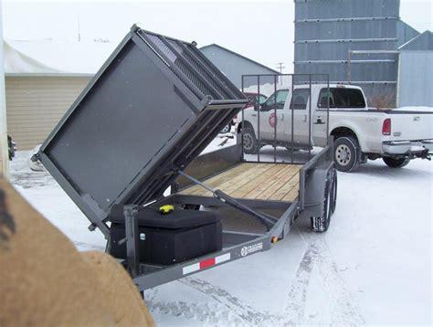 dump bed trailer enclosed trailer with dump bed lawnsite