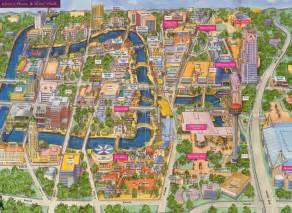 san antonio riverwalk map san antonio river walk map free printable maps