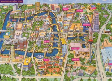 san antonio texas riverwalk map san antonio river walk map free printable maps