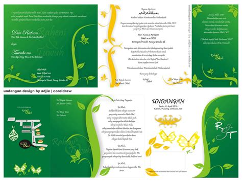 layout undangan undangan pernikahan word joy studio design gallery