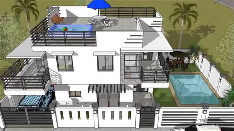 3 Storey Townhouse Floor Plans by Modern 2 Storey House With Roofdeck Amp Swimming Pool Youtube