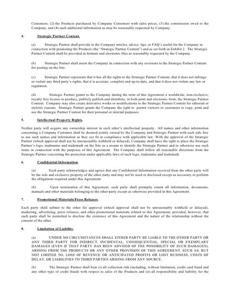revenue contract template e commerce agreement