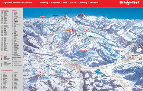 map of us ski area kitzbuhel austria map