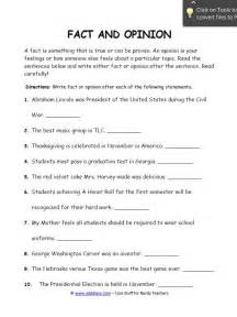 fact and opinion worksheets for students edgalaxy cool