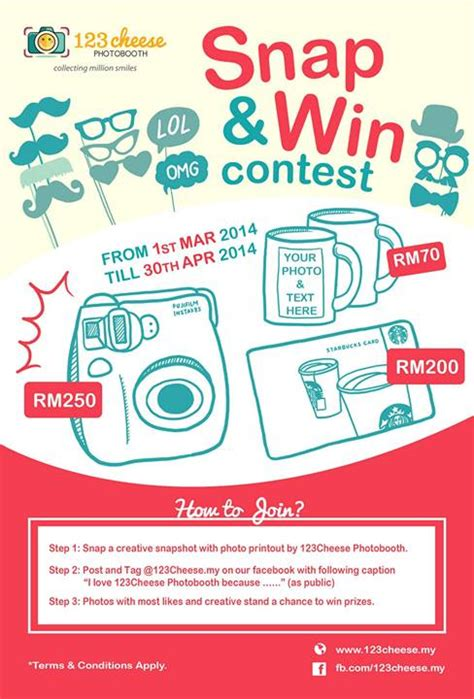 participate in contest 123cheese my snap win contest contests events malaysia