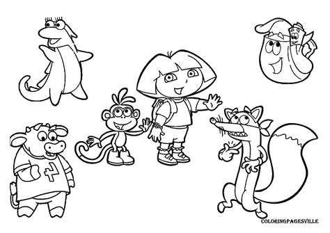 christmas coloring pages of dora the explorer dora the explorer boots coloring pages for kids halloween