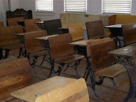 old timey desks old fashioned desks in rows australian history
