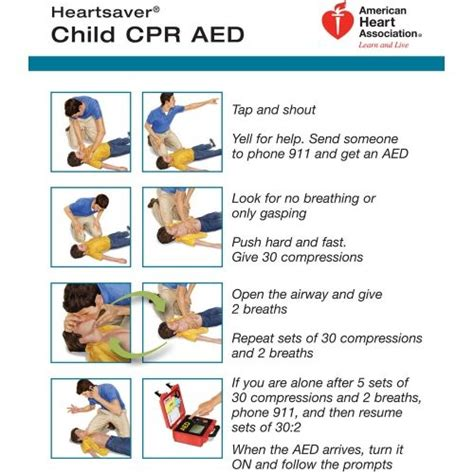 printable cpr instructions cpr instruction sheets infants heartsaver 174 child and