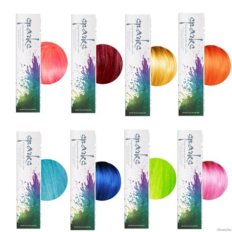spark color chart sparks lasting bright hair color dyes ebay