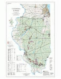 coal mines in map illinois state geological survey coal industry map isgs