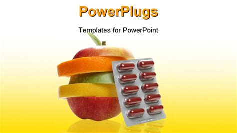 powerpoint themes vitamins vitamin pill powerpoint template background of food