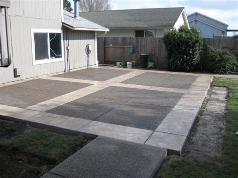 backyard concrete designs concrete patios here s a neat concrete patio design