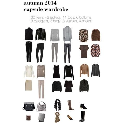 30 Item Wardrobe by Quot Autumn 2014 30 Item Capsule Quot By Lillyicity On Polyvore