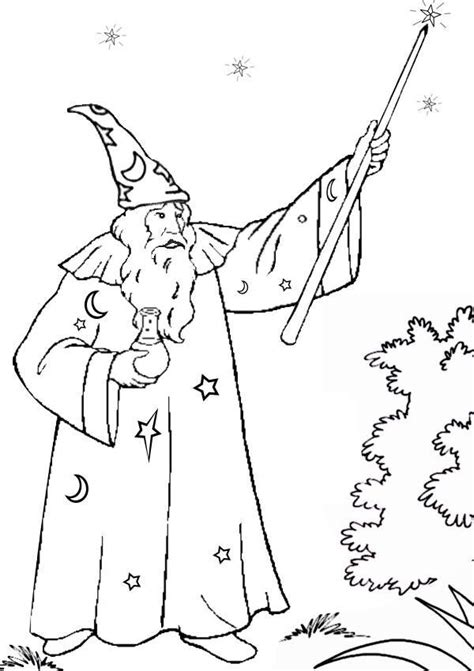 Wizard Coloring Pages to download and print for free