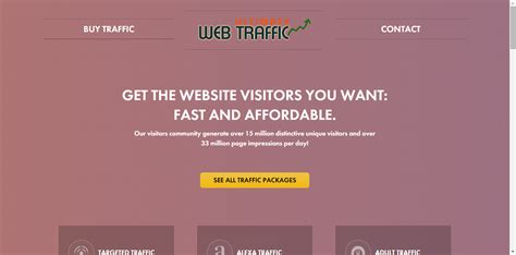 utimate web traffic home page shot helping you make