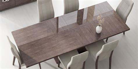 Italian Dining Table Designs Italy Made Prestige Extendable Walnut Dining Table Boston Massachusetts Esf Prestige