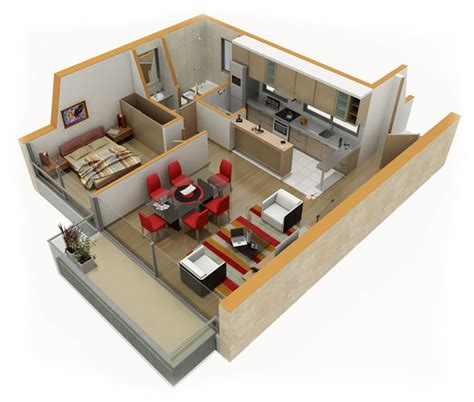 home design 3d kitchen new 3d house blueprints and plans with suite living room