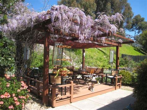 Outdoor Gazebo Rooms Deck And Wisteria Arbor Arbors N Pergolas
