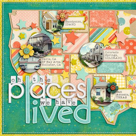 scrapbook layout idea websites how to create a scrap worthy map with photoshop
