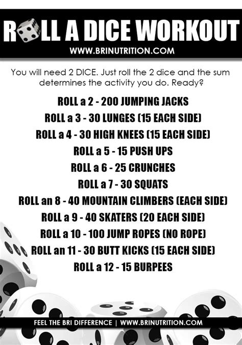 printable exercise dice 43 best ideas about workout games on pinterest coins
