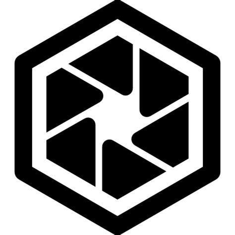 logo shapes book hexagonal diaphragm shape interface symbol free interface icons