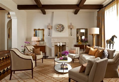 montecito andalusian mediterranean living room santa