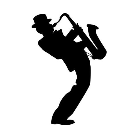 layout jazz definition silhouette of saxophone player google search diy