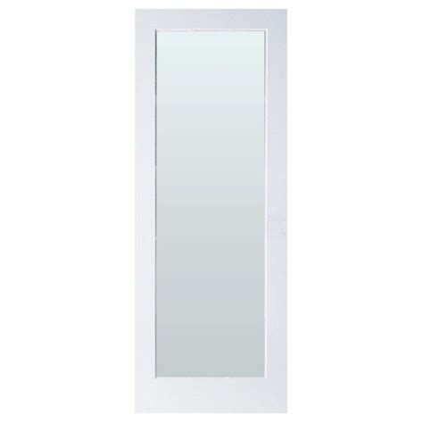 glass interior doors home depot masonite 30 in x 80 in full lite solid core primed mdf