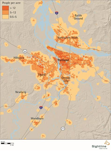 map of oregon population portland area population density sightline institute