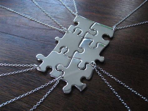 diy best friend necklaces grosgrain ideas diy best friends puzzle necklace