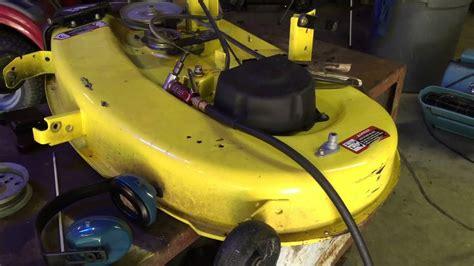 jd deck repair    riding mower   idler mount